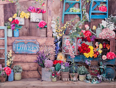 A Rustic Flower Stand - Easter and Spring Mini Photos