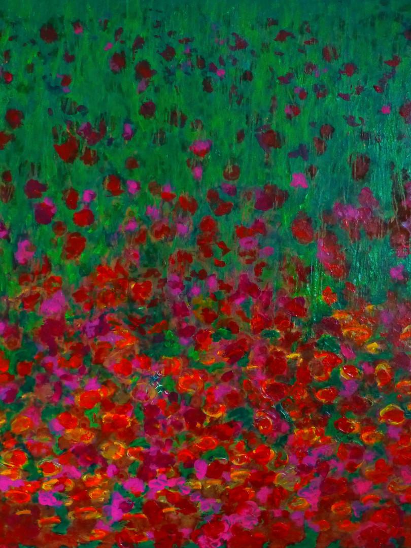 Midsummer Garden, toile 80x80