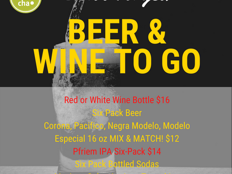 Beer & Wine To Go Specials