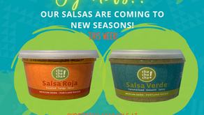 Our Salsas at New Seasons!
