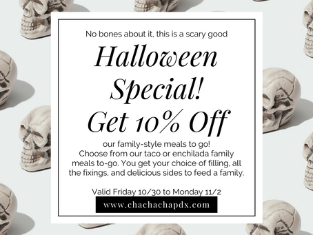 Halloween Special - A Scary Good Deal! Valid 10/30 to 11/2
