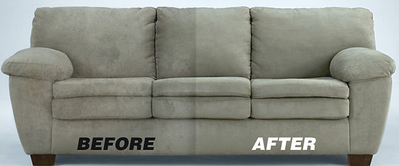 Before and After Leather Lounge Cleaning
