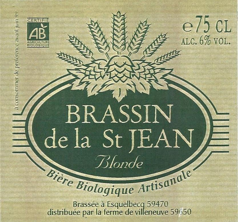 Etiquette du Brassin de la St Jean