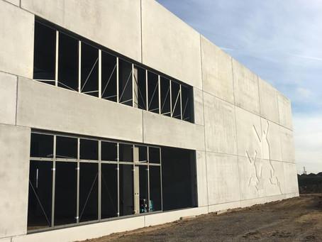 La construction d'un nouveau site de production