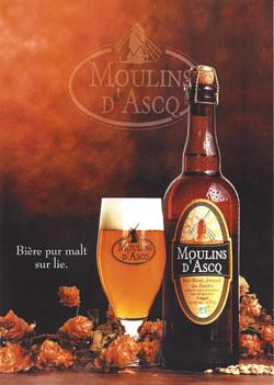 Ancienne affiche Moulins d'Ascq