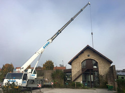 Ajout de nouvelles cuves par le toit