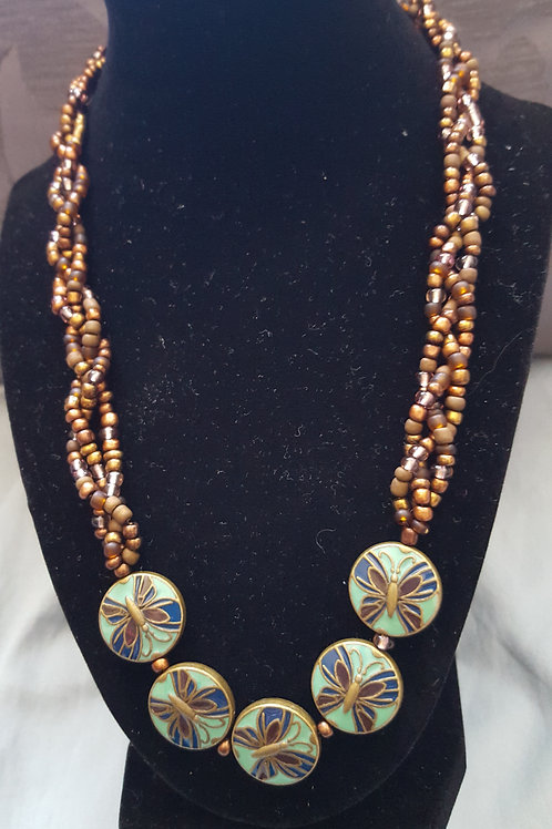 Brown Butterfly Necklace