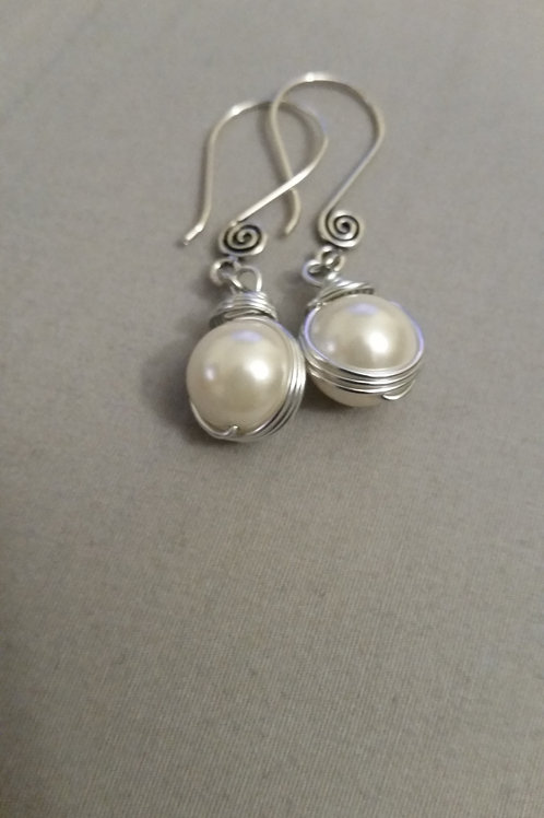 Pearl Wrap Earrings