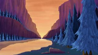 Shady Canyon Digital Illustration