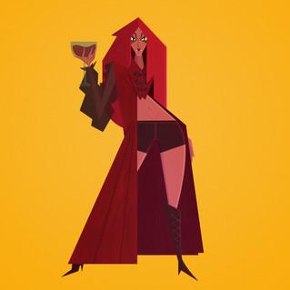 Vampire Queen Digital Illustration