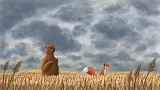 A Sudden Goodbye Digital Illustration
