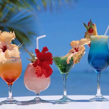 Drinks em frente a praia