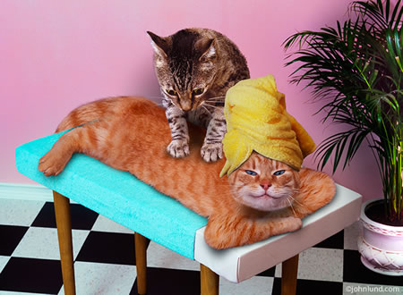 Massagem relaxante para a Noiva