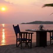 Jantar privativo sob as estrelas na praia
