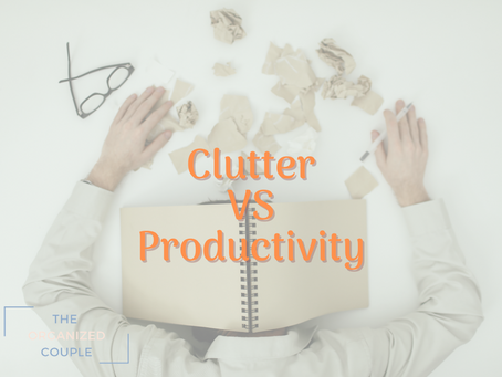 Clutter is decreasing your productivity