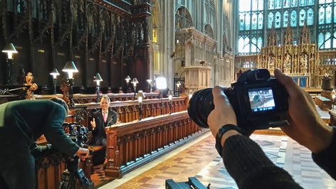 On location at Gloucester Cathedral