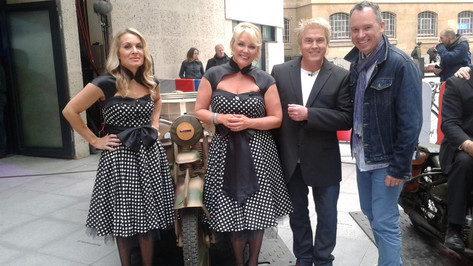 At New Broadcasting House with Bucks Fizz