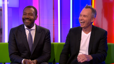On the sofa with the great Lenny Henry