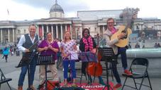 Busking in Trafalgar Square