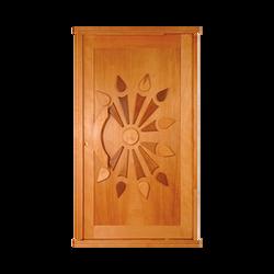 African Sunset Pivot Door