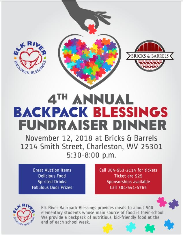 The 4th Annual Elk River Backpack Blessings Dinner Fundraiser is Set