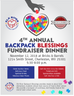 The 4th Annual Elk River Backpack Blessings Dinner Fundraiser is Set