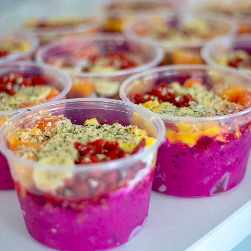 Graze pitaya bowls filled with vitamins, nutrients, minerals, and enzymes our bodies are designed to thrive on.
