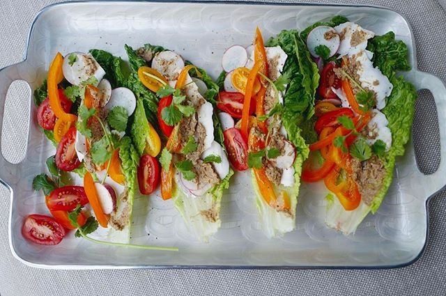 Raw Coconut Meat  Tacos