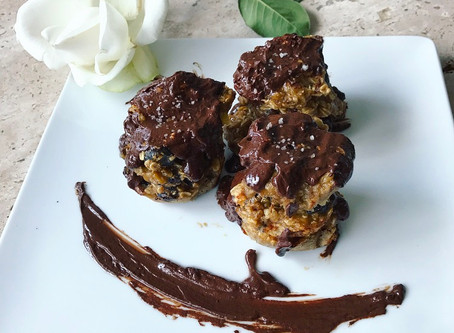 Cacao Cookies with Cacao Drizzle