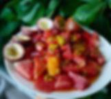 Watermelon + Passion Fruit 🍉💜💛 Have y