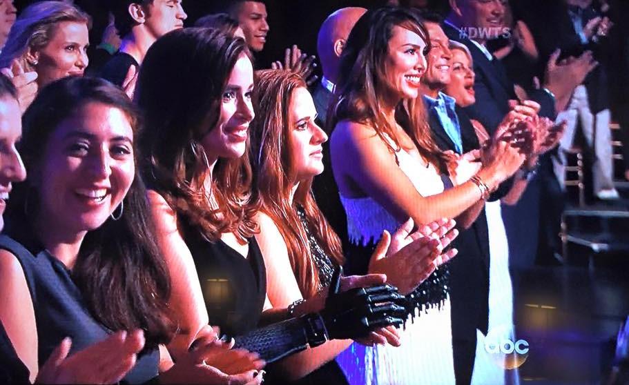 Bionic Model Rebekah Marine in Dancing with the Stars audience