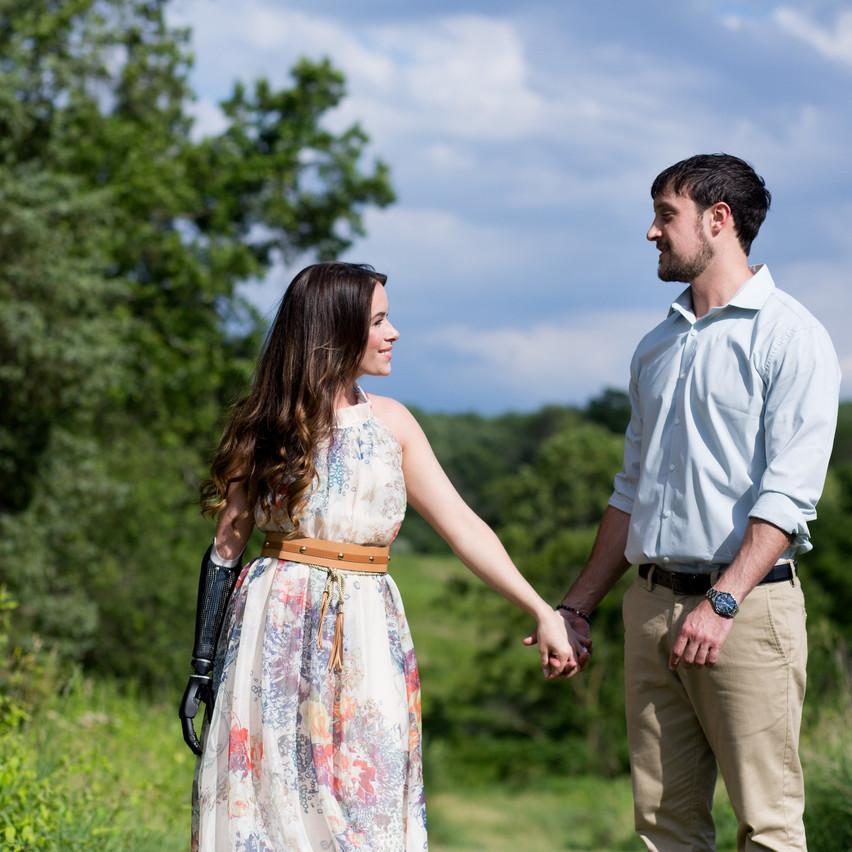 Rebekah Marine and Jared engagement