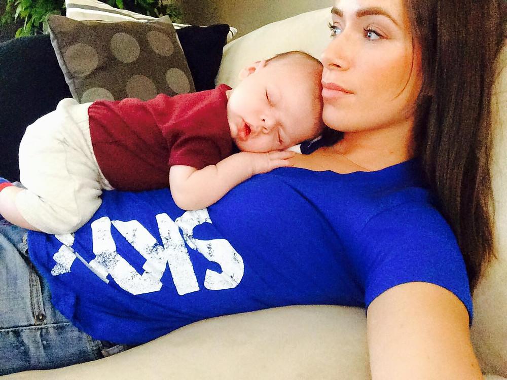 Rebekah Marine with her nephew Liam