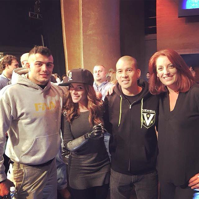 Rebekah Marine with MMA fighter Nick Newell