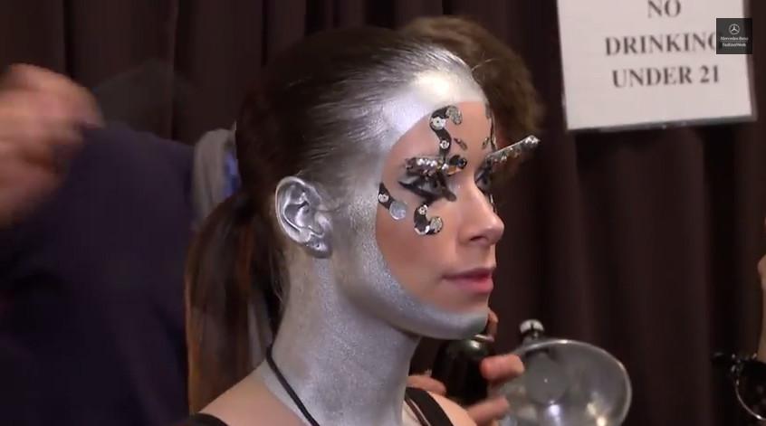 Bionic Model Rebekah Marine at NYFW