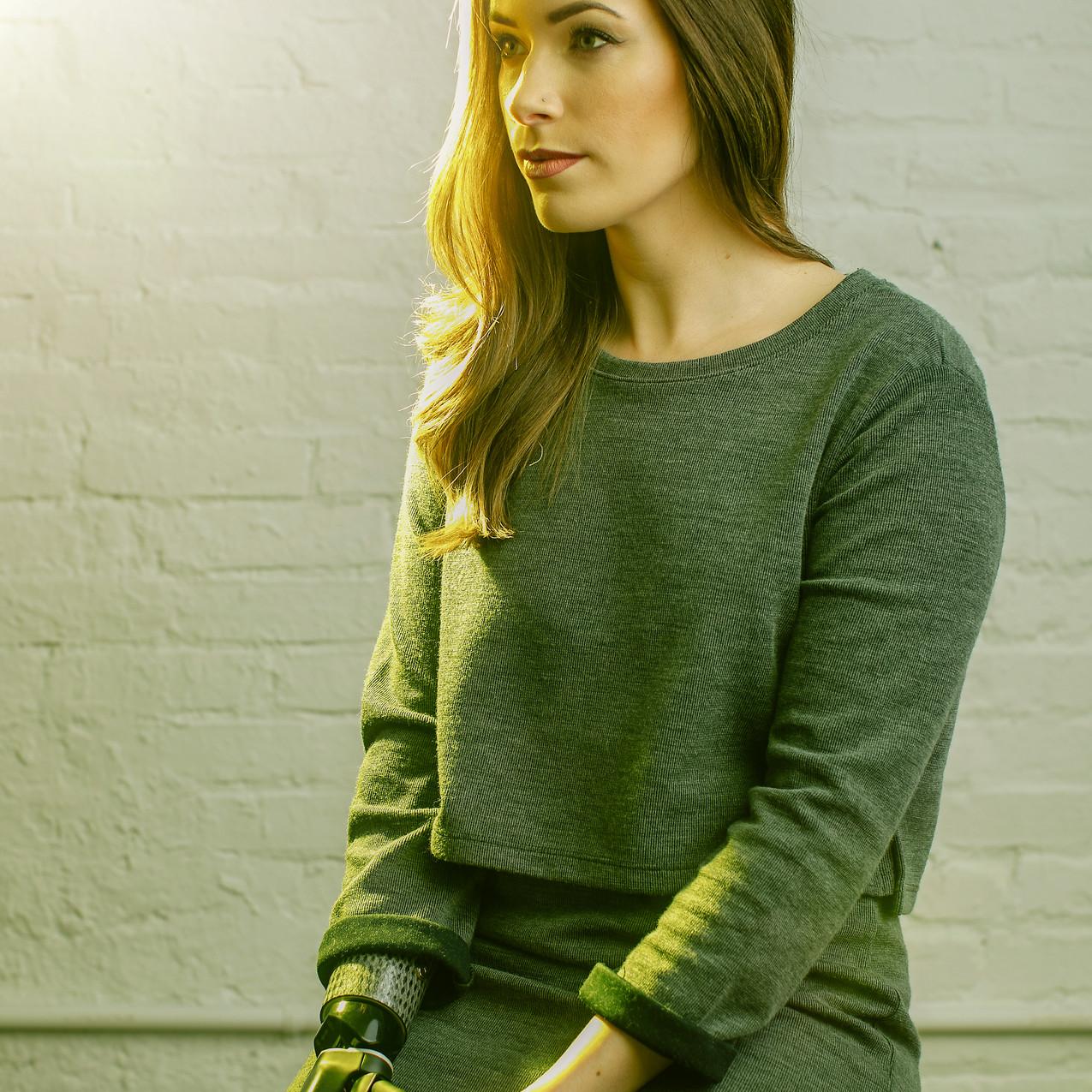 Bionic Amputee Model Rebekah Marine