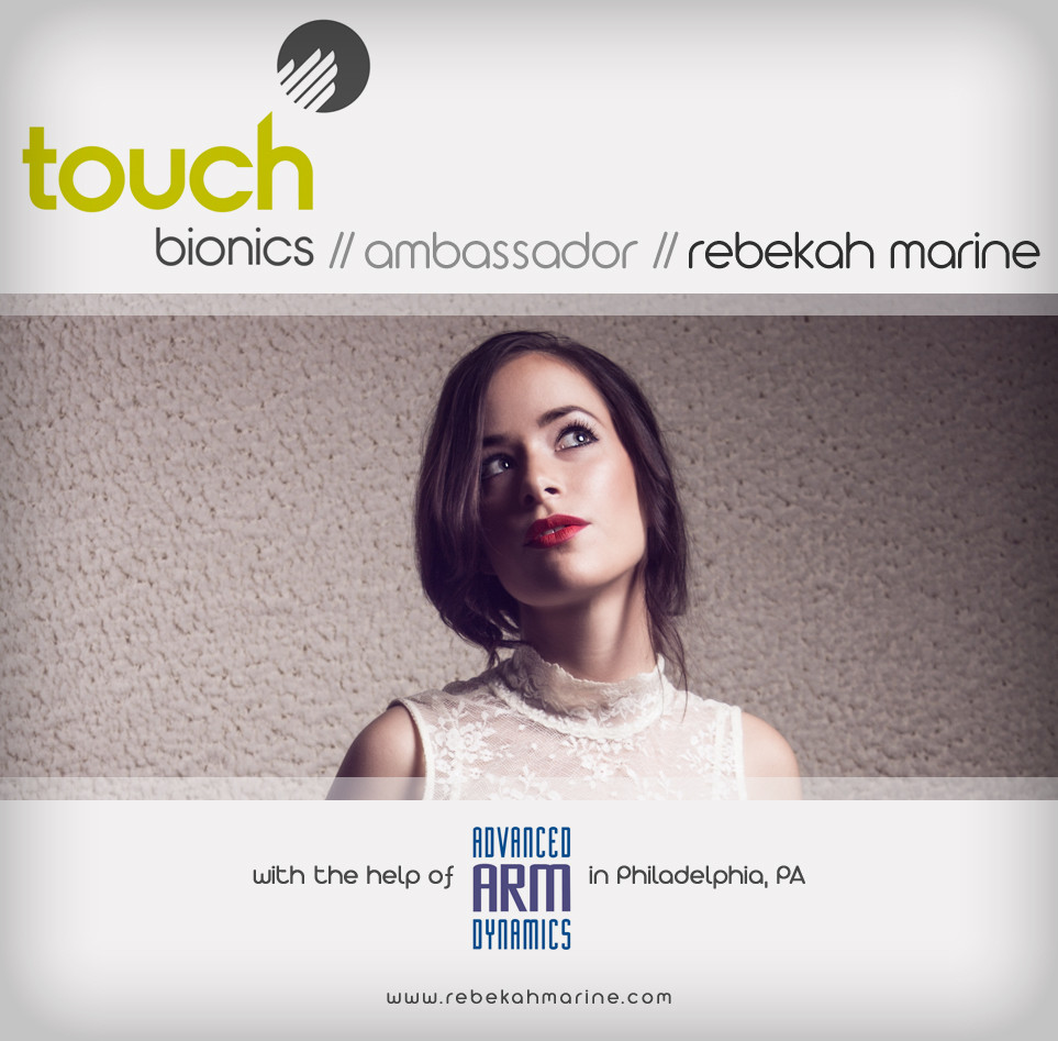 Touch Bionics Ambassador Rebekah Marine
