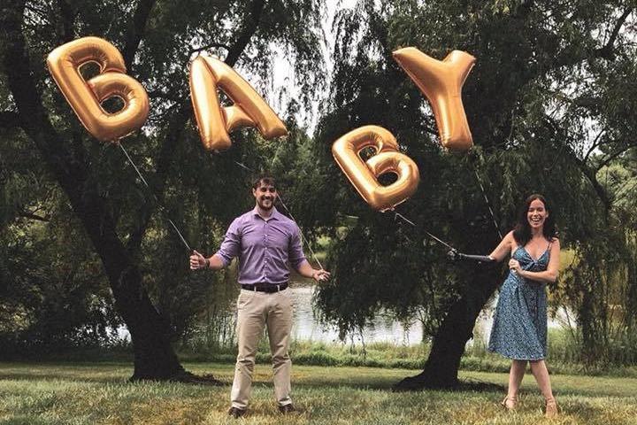 Pregnancy Announcement Letter Balloons