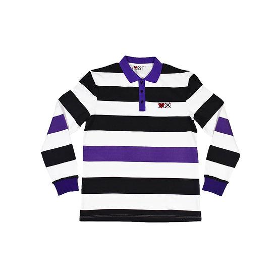Purple 'Retro, Long Sleeve Polo