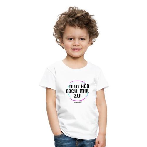 hör doch mal zu schwarz- kinder shirt
