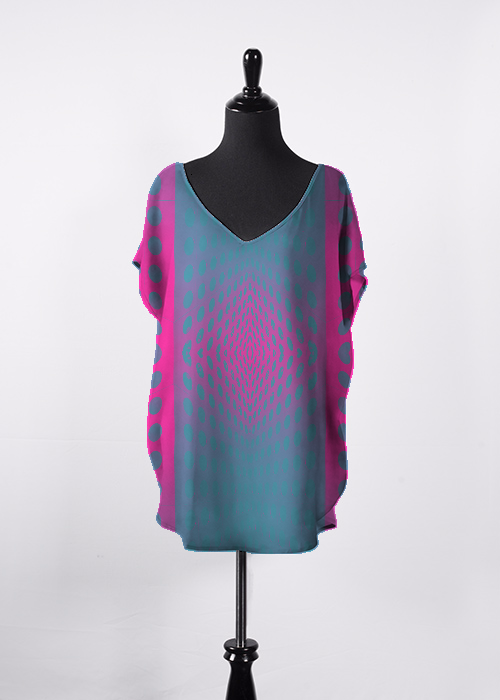 Vertical Scale Blue-Pink Essential Top