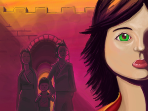 Conceptual painting w/ Majin & team at the Great Wall of China