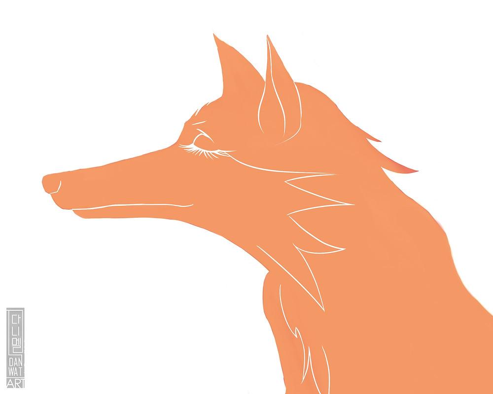 Monochrome fox sans contour