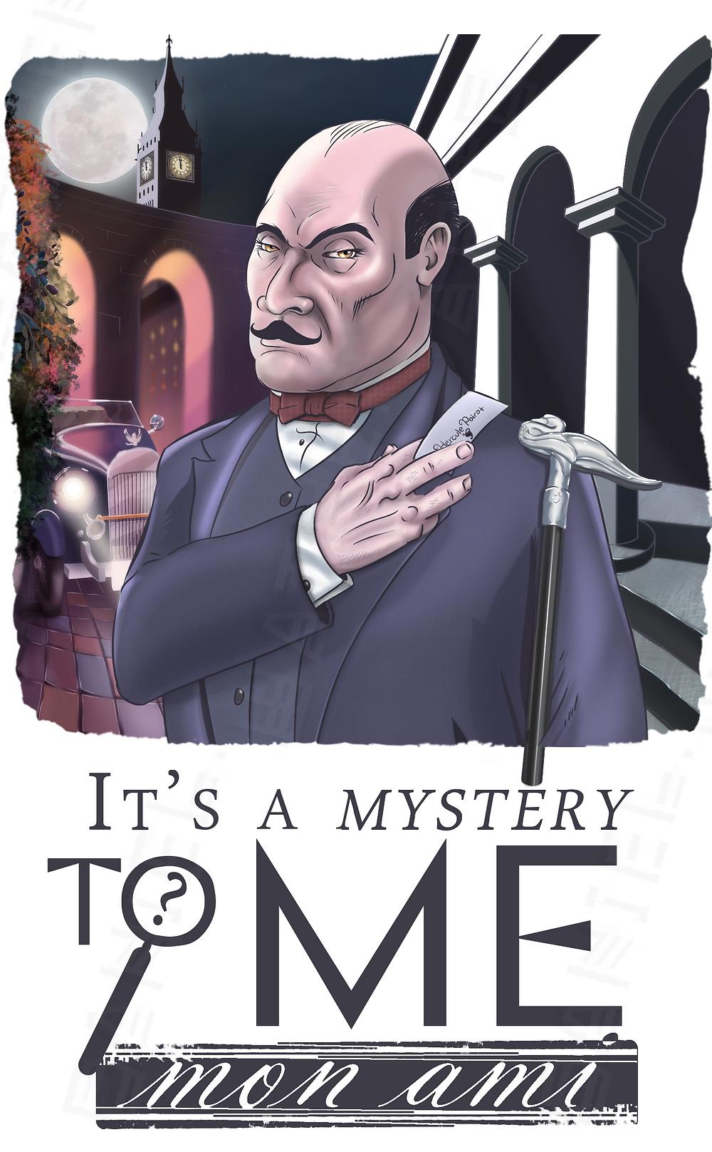 Poirot illustration by Daniel Wathen
