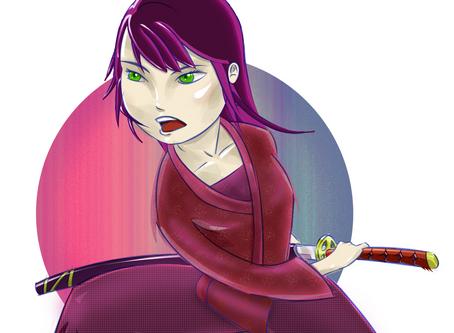 Meet Majin - the Anti-Manga, Sword Girl that will kick your bad attitude.