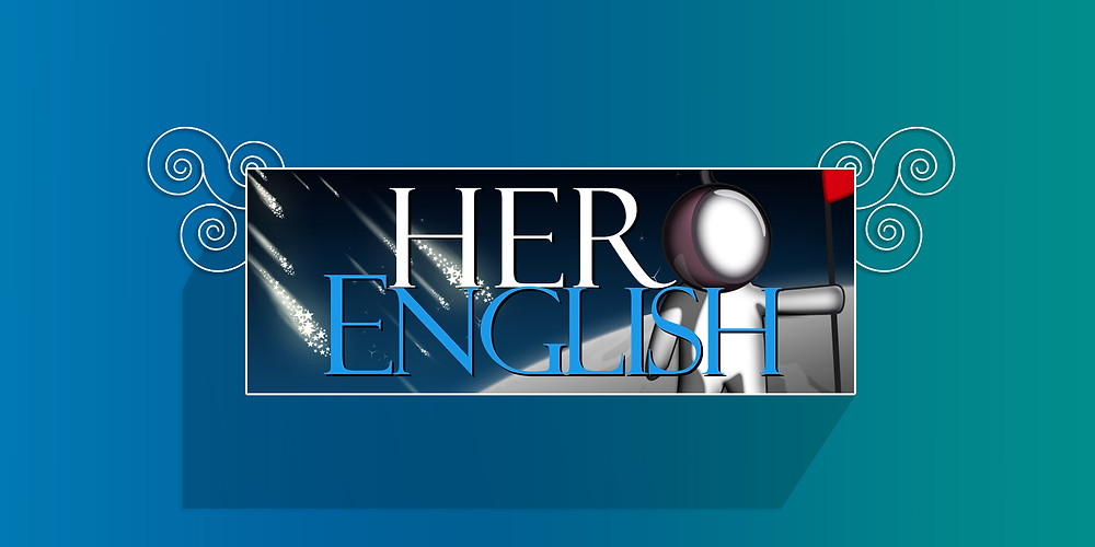 Logo design and Facebook page banner for Hero English