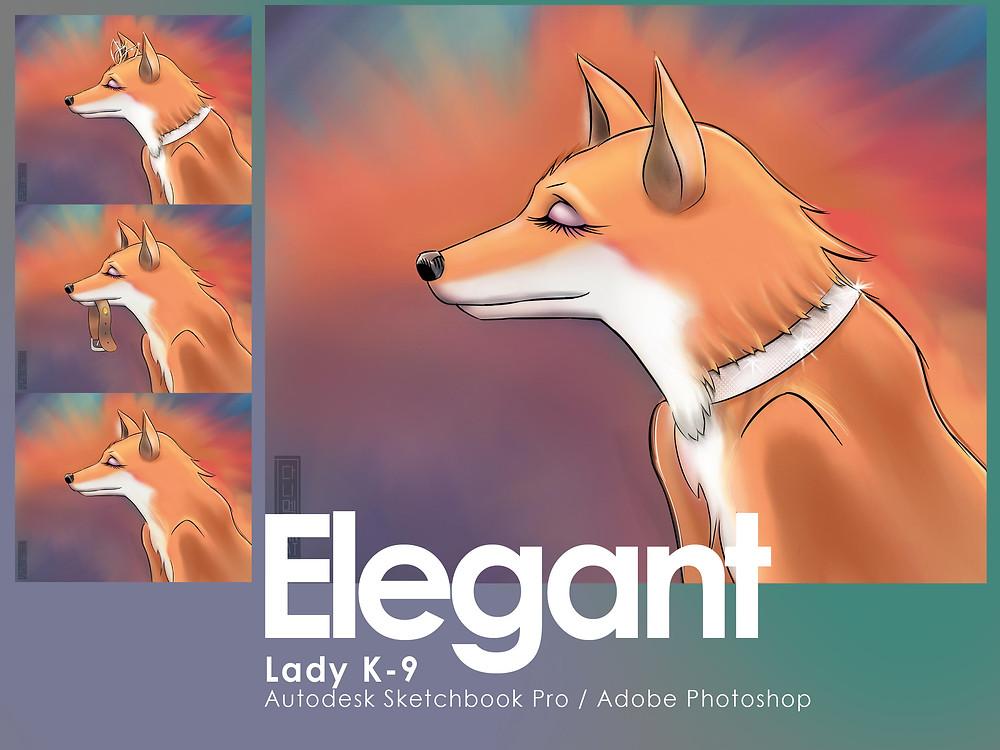 Elegant dog image