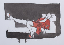 Resting in Black and Red