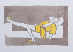 Resting in Grey and Yellow