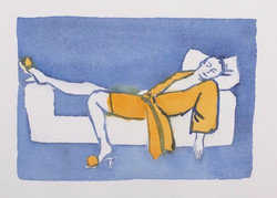 Resting in Blue and Orange